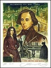 Kirnitskiy Sergey 2006 Exlibris C4 Fryderyk Chopin Composer Music Piano 130