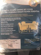 Duck Covers Essential Round Patio Table with Chairs Cover, 76-Inch, New