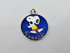 "Vintage NOS Aviva Snoopy Charm Shot Put 1976 Olympics 1"" Cloisonne Medallion"