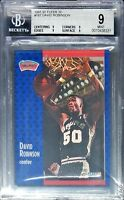 BGS 9 DAVID ROBINSON 1991-92 Fleer 3D Acrylic Wrapper Redemption #187 RARE MINT