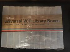 Lot of 10 Empty Clear Gloss Hard Plastic VHS Movie Cassette Cover Snap Case New