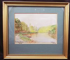 Lovely Vintage Cliveden Woods Bucks Watercolour Signed A J Smith Jan 1942