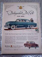 1953 DESOTO POWERMASTER- VINTAGE AMERICANA ORIGINAL NEWSPAPER  AD.