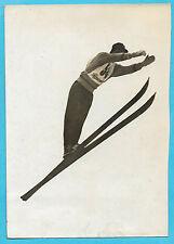 PHOTO PRESSE ROL PARIS + fév 1936 + SKI + GARMISCH : SAUT du Norvégien ERIKSSEN