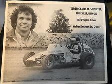 Rich Vogler  Sprint Car Postcard Elder Cadillac