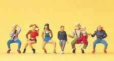 Preiser 10536 H0, Opa, Kinder, 7 Figuren, handbemalt, Neu