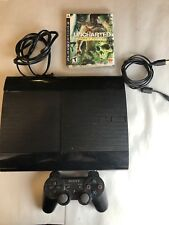 Playstation 3 PS3 Super Slim 250GB Console, Cables, Controller, Uncharted Game