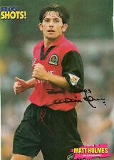 Matt Holmes (Blackburn Rovers) signed picture