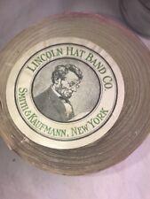 "1 yards 2"" wide vintage roll grosgrain Seal Brown ribbon hatband Silk"
