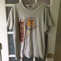 Vintage T Shirt Golden Gophers University of Minnesota Gray Size Men L VTG