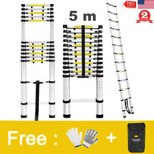 16.5FT Aluminum Multi Purpose Telescopic Ladder Extension Foldable Steps 331Lbs