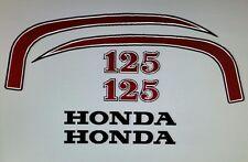 HONDA SL125  MOTORSPORT MODEL  FULL PAINTWORK DECAL KIT