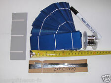 40-2x6 (52x156 mm) solar cells DIY solar panel kit 40 cells,flux pen, T + B wire