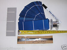 40-2x6 (52x156 mm) solar cells DIY solar panel kit 40 cells,flux pen, T + B wire