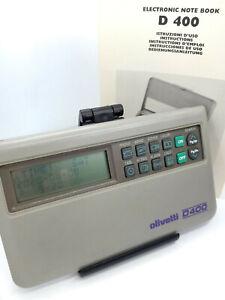 Olivetti D400 Electronic Notebook  Personal Organizer Calculator Memo Schedule