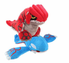 Pokemon Center Red Groudon & Kyogre Plush Doll Soft Animal Collection Kids Set