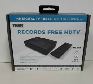 Terk HD Digital TV Tuner with DVR Functionality TUNVR1 with Remote, Power NEW