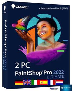 Corel PaintShop Pro 2022 Ultimate Vollversion 2 PC + Handbuch (PDF) Download NEU