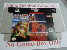 Dig & Spike Volleyball, 100% Original Unused Box Only, SNES, Super Nintendo