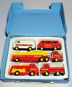 TONKA 18 LOT ** 5 VEHICLES ** 1970s 2 Fire Trucks, 2 Vans, Pickup Truck, VINTAGE