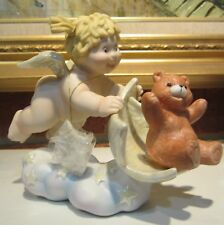 Fitz & Floyd Little Miracles Angels Help With A Push Angel Bear Cherub So Sweet