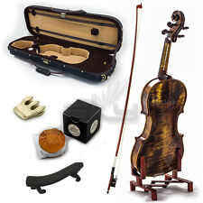 High Quality SKYVN622 Full Size Hand Carved Artist Violin Antique Style