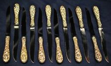 STIEFF ROSE STERLING  STEAK KNIVES  BIDDING ON  SET OF 6 MATCHING
