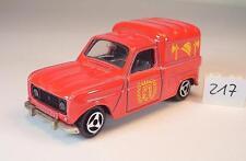 Majorette 1/65 nº 230 Renault 4 L Pompier Pompiers nº 1 #217