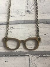 Funky Bronze Glasses Necklace
