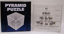 Pyramid Puzzle Ball Bearing Game In 3D Cube