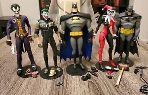 Lot of 5 DC Multiverse Mcfarlane Figures, Batman, Harley Quinn, Joker