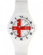 ToyWatch Unisex England Flag Dial White Rubber Strap Quartz Watch JYF03EN