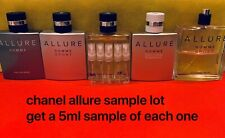 ^^ENTIRE CHANEL ALLURE 5ML SAMPLE LOT^^ Homme Sport Extreme Cologne Blanche
