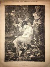 Gravure Ancienne 19eme Romantique Alcide Roubaudi Arthur Hauger