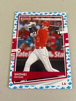 2020 Donruss Baseball Shohei Ohtani Baby Shark & Photo Variation LA Angels