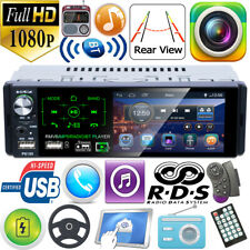 Single 1Din 4.1in Car Stereo MP5 Player RDS AM FM Radio BT AUX USB TF Handsfree