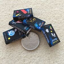 SET of 5 DOLLS HOUSE MINIATURE BOOKS Hitchhikers Guide to Galaxy HANDMADE 1:12th