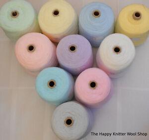 James C Brett 500g Baby 4Ply Pastel Cone Acrylic Hand or Machine Knitting Wool