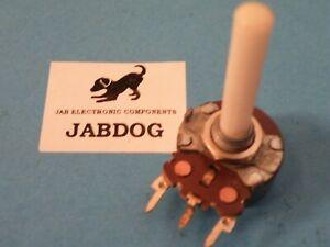"""24mm Single Gang AB Pot Potentiometer 10K Reverse Log 1/4"""" Spindle  A10 15g K088"""