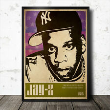 Jay Z Hip Hop Art Poster Rap Music Tupac Shakur Biggie Smalls Gangster NWA Nas