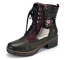 Bugatti Damen Leder Stiefeletten Stiefel Gefütterte Boots 42132331 Grün Multi