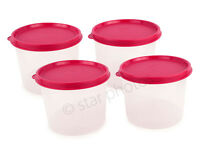 Tupperware Mini Canisters Set of 4 - Sheer with Vineyard Seals - New!