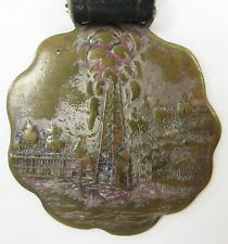 New listing Vintage Oil Well Derrick Drilling Supply Co Advertising Watch Fob Pittsburgh Pa