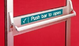 Axim PR7085 Panic Bar Exit Device With Concealed Rods For Aluminium Doors Silver