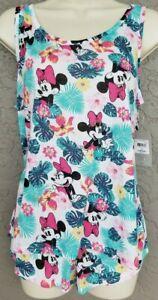 Medium Disney Sleep Set Tropical Minnie Mouse Tank & Shorts Size 7-9 Juniors