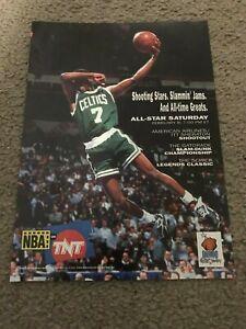Vintage 1990s DEE BROWN in REEBOK PUMP Poster Print Ad NBA SLAM DUNK CONTEST