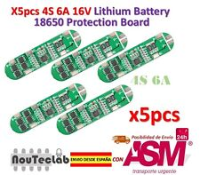 5pcs 4S 6A 16V Li-ion Lithium 18650 BMS PCM Battery Protection Board
