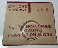 Verre de montre suisse bombé plexi diamètre 209 Watch crystal vintage *NOS*