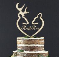 Mr & Mrs Wooden Wedding Cake Topper Decoration Keepsake