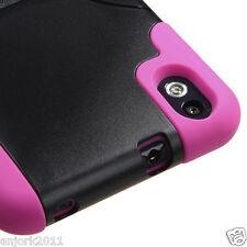 HTC Desire 816 4G LTE Virgin Hybrid T Stand Case Skin Cover Black/Hot Pink
